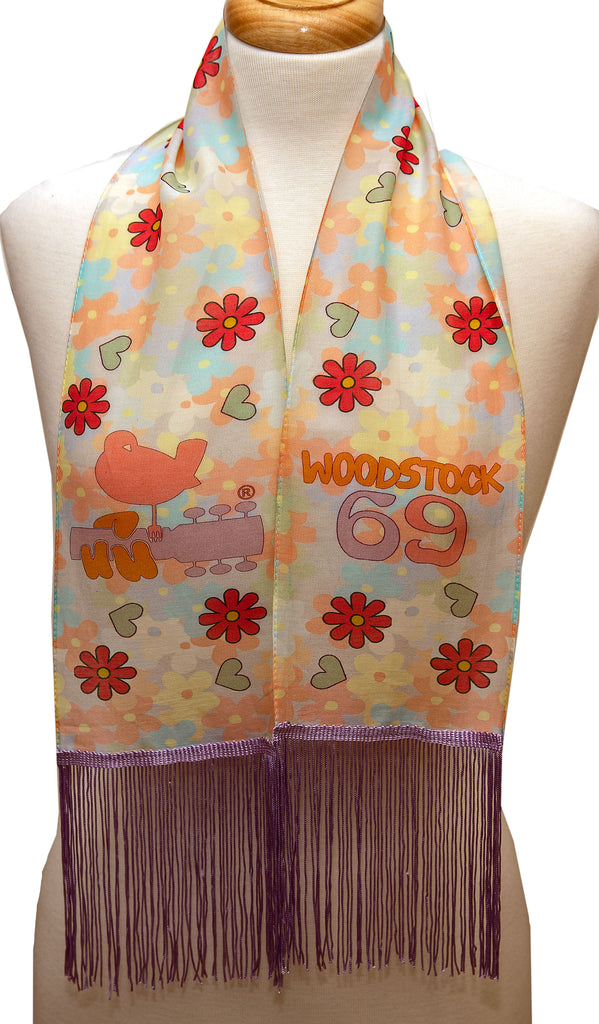 Woodstock scarves with fringes