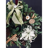 Festive Wreath in Air - NE Flower Boutique