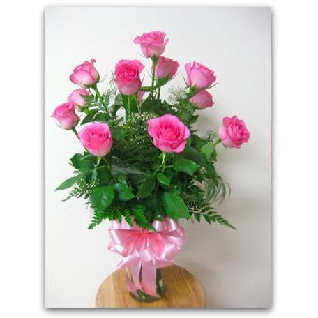 Pink Dozen of Love - NE Flower Boutique