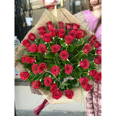 41 Long Stem Roses Bouquet - NE Flower Boutique