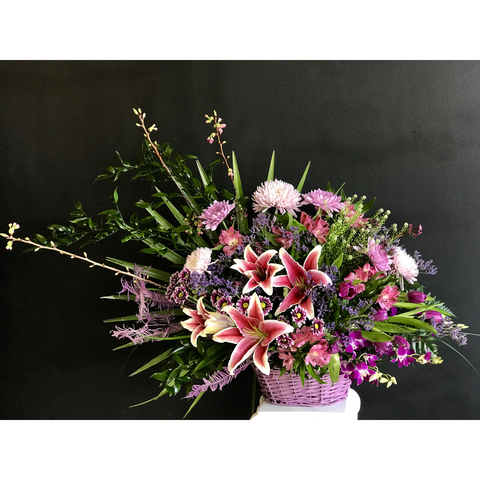 Floral Embrace Basket - NE Flower Boutique