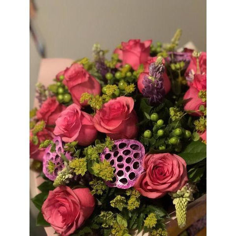Jewel Pink Roses - NE Flower Boutique