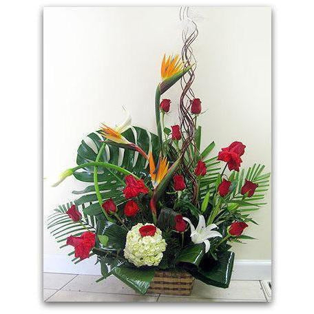 Red and Tropics - NE Flower Boutique
