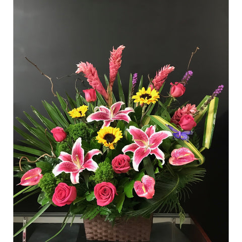 Punch of Colors Basket - NE Flower Boutique