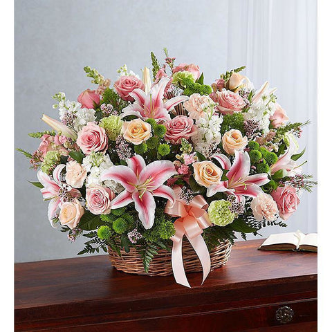 Pastel Sympathy Basket - NE Flower Boutique