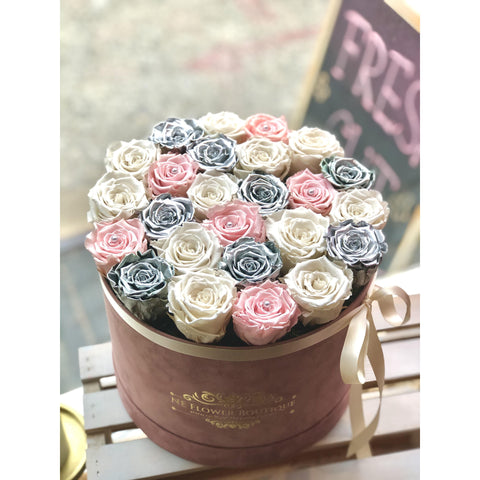15 - Silver Sunrise Box - NE Flower Boutique
