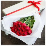 Dozen Roses in Gift Box - NE Flower Boutique