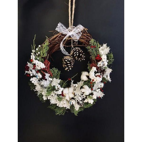 Christmas Wreath to Remember - NE Flower Boutique