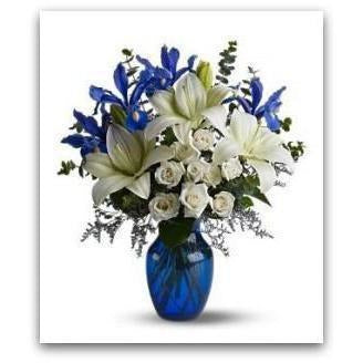 Blue and White Holiday - NE Flower Boutique
