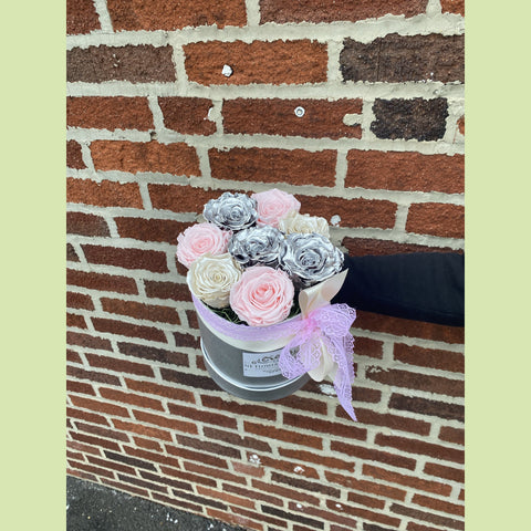 Silver Sunrise Box - NE Flower Boutique