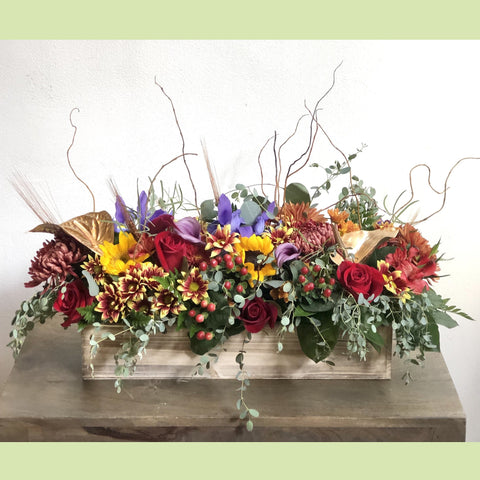 Thankful and Grateful Centerpiece - NE Flower Boutique