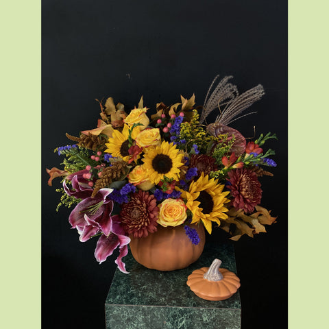 Festive Pumpkin - NE Flower Boutique