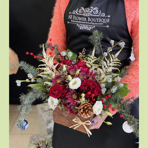 Vintage Christmas Arrangement - NE Flower Boutique
