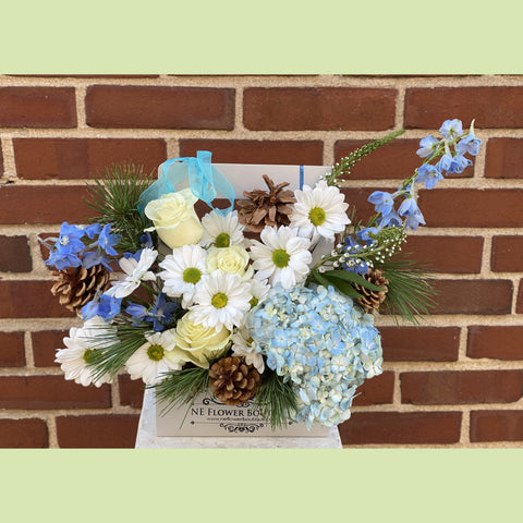 Blue and White Tenderness - NE Flower Boutique