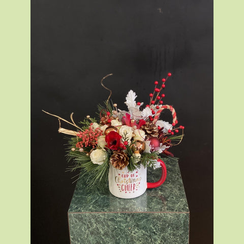 Cup of Christmas Cheer - NE Flower Boutique