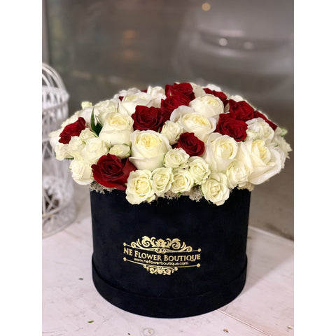 10 - Red and White and Just Right - NE Flower Boutique