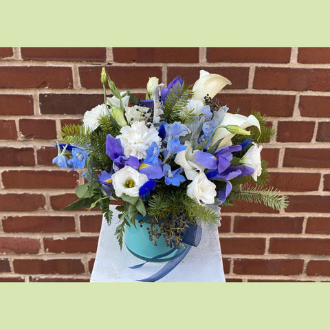 Happy Hanukkah Vase - NE Flower Boutique