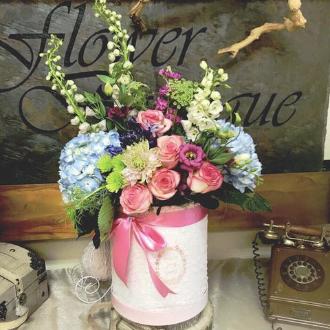 Hat Box Blossoms - NE Flower Boutique