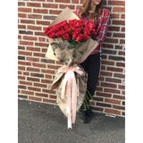 51 Roses 🌹 Extra Long Stems! - NE Flower Boutique