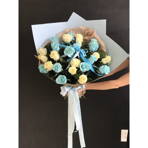 Blue and White Dozen - NE Flower Boutique
