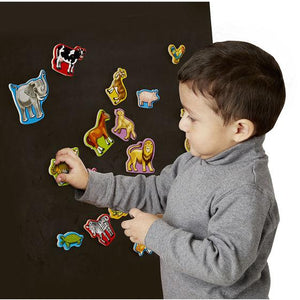 Melissa & Doug, Melissa & Doug - Wooden Animal Magnets, Toys