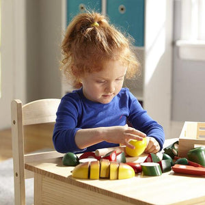 Melissa & Doug, Melissa & Doug - Cutting Food, Wooden Play Food, Toys