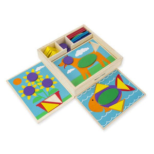 Melissa & Doug, Melissa & Doug - Beginner Pattern Blocks, Toys