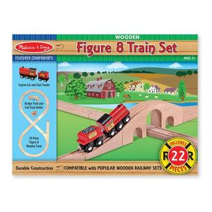 Melissa & Doug, Melissa & Doug - Figure 8 Train Set, Toys