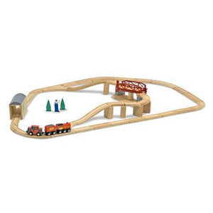 Melissa & Doug, Swivel Bridge Train Set, Toys