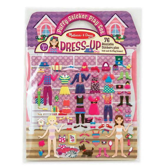 --Melissa & Doug, Melissa & Doug - Puffy Stickers Play Set, Dress-Up, Toys--