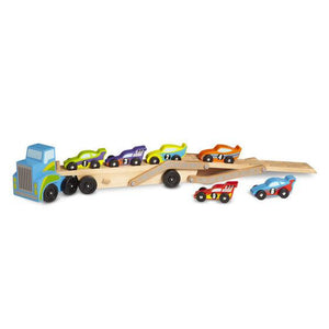 Melissa & Doug, Melissa & Doug - Mega Race Car Carrier, Toys