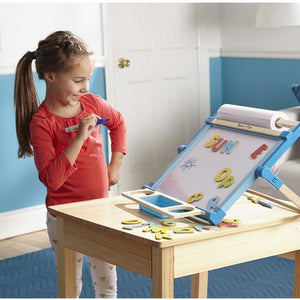 Melissa & Doug, Melissa & Doug - Double-Sided Magnetic Tabletop Easel, Toys