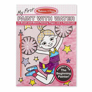 Melissa & Doug, Melissa & Doug - My First Paint With Water Kids' Art Pad With Paintbrush; Cheerleaders, Flowers, Fairies, and More, Toys
