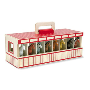 Melissa & Doug, Melissa & Doug - Take-Along Show-Horse Stable Play Set, Toys
