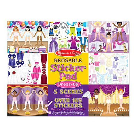 Melissa & Doug, Melissa & Doug - Reusable Sticker Pad, Dress-Up, Toys