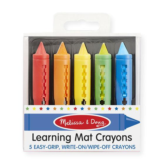 --Melissa & Doug, Melissa & Doug - Learning Mat Crayons (5 Colors), Toys--