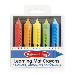 Melissa & Doug, Melissa & Doug - Learning Mat Crayons (5 Colors), Toys
