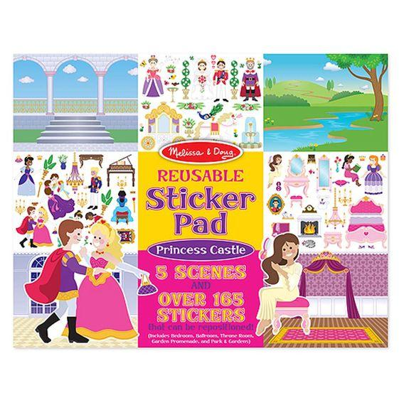--Melissa & Doug, Melissa & Doug - Reusable Sticker Pad, Princess Castle, Toys--