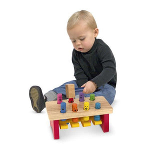 Melissa & Doug, Melissa & Doug - Deluxe Pounding Bench Toddler Toy, Toys