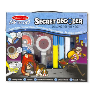 Melissa & Doug, Melissa & Doug - Secret Decoder Deluxe Activity Set, ON the GO, Toys