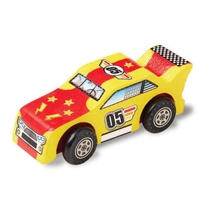 Melissa & Doug, Melissa & Doug - Decorate-Your-Own Wooden Race Car, Toys