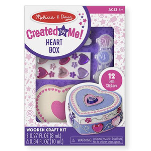 Melissa & Doug, Melissa & Doug - Decorate-Your-Own Wooden Heart Box, Toys