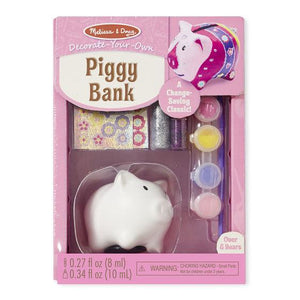 Melissa & Doug, Melissa & Doug - Decorate-Your-Own Piggy Bank, Toys