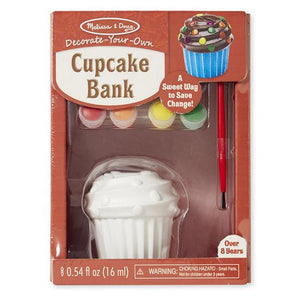 Melissa & Doug, Melissa & Doug - Decorate-Your-Own Cupcake Bank, Toys