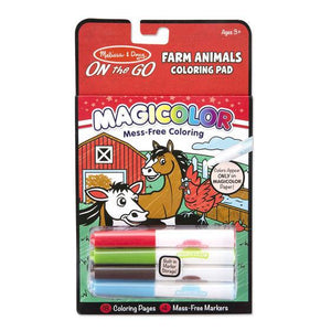 Melissa & Doug, Melissa & Doug - Magicolor, On the Go, Farm Animals Coloring Pad, Toys