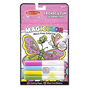 Melissa & Doug, Melissa & Doug - Magicolor, On the Go, Friends & Fun Coloring Pad, Toys