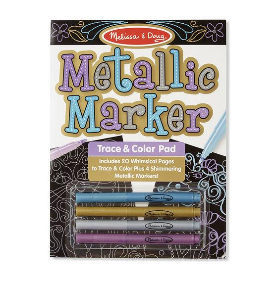 Melissa & Doug - Metallic Marker Trace & Color Pad