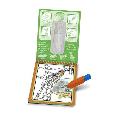 Melissa & Doug, Melissa & Doug - Water Wow! Safari Water Reveal Pad, ON the GO Travel Activity, Toys