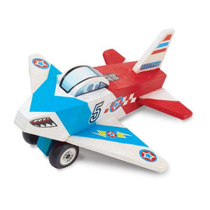 Melissa & Doug, Melissa & Doug - Decorate-Your-Own Wooden Plane, Toys