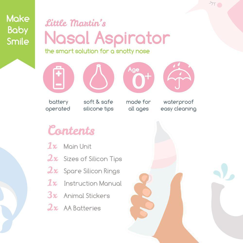 Little Martin's Drawer Baby Nasal Aspirator -Pink
